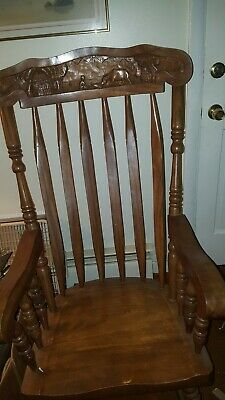 Antique rocking chair With Detail