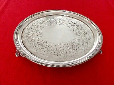 Superb HAWKSWORTH EYRE & Co 19th Century Silver Plated Footed Salver C1860