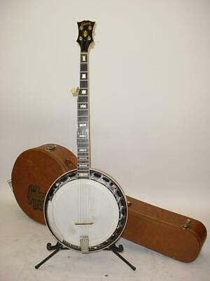 Vintage 1960's Gibson Mastertone RB-250 Banjo with Resonator INCLUDES CASE