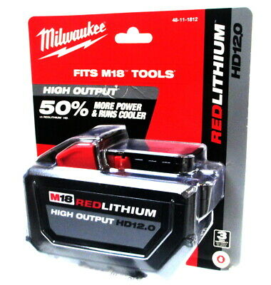 Milwaukee 48-11-1812 M18 Red Lithium HD12 Battery