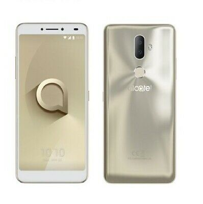 "Alcatel 3V Spectrum 6"" Smartphone 2GB RAM 16GB Locked to Tesco Mobile *Gold* B"