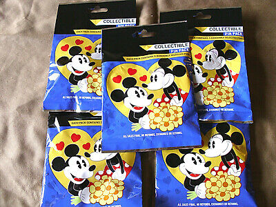 Disney * COUPLES * 5 PACKS * NEW 5-pin Collectible Mystery Pack Pins