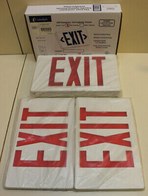 E-conolight Double Face Exit Sign Red Lens W/ Battery Backup - Free Shipping!