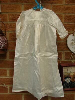 Sweet Vintage Baby Gown,Dress~Ivory Slipper Satin~Lace Trim~1940s,1950s