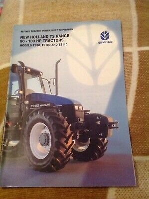New Holland TS90 TS100 & TS110 tractor brochure Ford Basildon