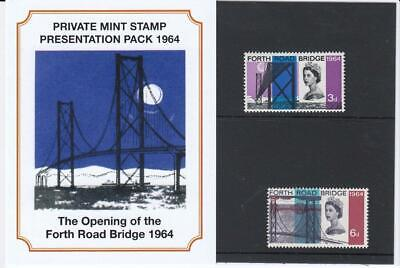 Gb 1964 The Opening Of Forth Road Bridge Private Presentation Pack Sg 659 660 #2
