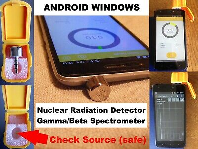 Nuclear Radiation Detector Counter Gamma Spectrometer for ANDROID Scintillator