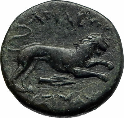 LYSIMACHOS 323BC Authentic Ancient Greek Coin ALEXANDER the GREAT & LION i76944