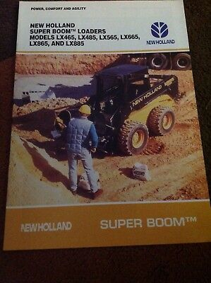 New Holland Super Boom skid steer loaders LX465-885 1996 tractor brochure