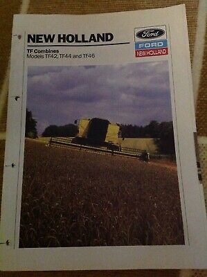Ford New Holland TF Combines TF42, TF44, TF46 tractor brochure