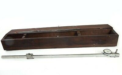 """Inspection 36"""" Setmaster Bar Gage with Mitutoyo 2803 Dial Indicator .0001"""" 0.25"""""""