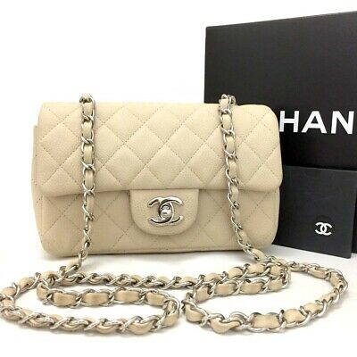 a8f94fde4d2ea4 CHANEL Quilted Silver Hardware CC Logo Soft Caviar Skin Shoulder Bag /ee943