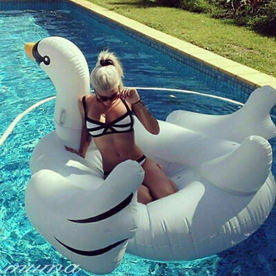 Giant Rideable Swan Inflatable Float Raft Summer Sea Swim PoolWater Lounge Beach