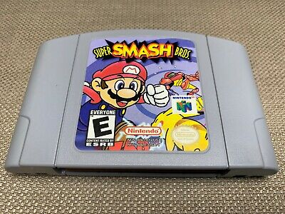 Nintendo 64 Super Smash Bros. Authentic Game Cart Only Tested & Clean N64 NR