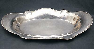 Antique Arts & Crafts, Barbour Silver Co, Hand Hammered Sterling Bread Tray