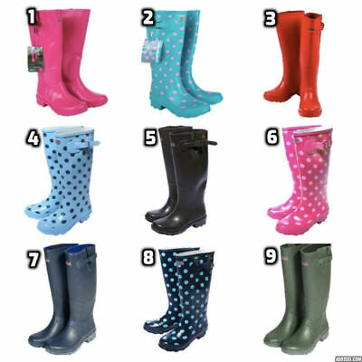 Town & Country Womens Ladies Wellington Boots Waterproof Wellies Long High