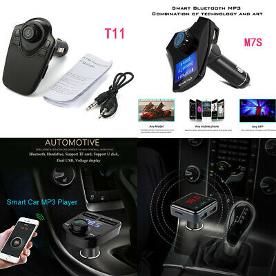 Bluetooth V3.0 Car Kit MP3 Player FM Transmitter Wireless Adapter USB Charger