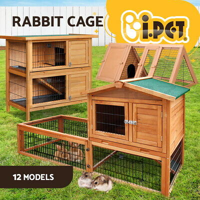i.Pet Rabbit Hutch Hutches Chicken Coop Coops Cage Large Metal Wooden Pets