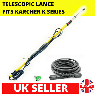 7.2m 24ft Telescopic Lance M22 Karcher K-Series Pressure Washer & 10M Hose