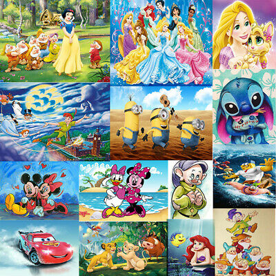 Cartoon Disney 5D Diamond Painting Embroidery Cross Stitch Pictures Arts Mural