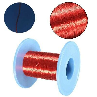 Magnet 0.2mm Red Wire Wire Enameled Copper Round Magnetic Coil Winding 100m