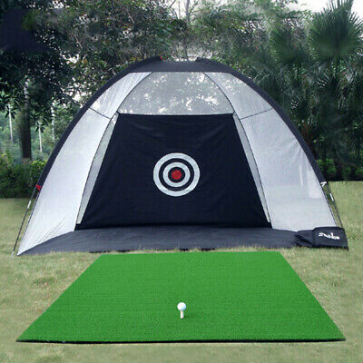 Outdoor Supersized Golf Practice Net Driving and Chipping Cage Training Aid +Bag
