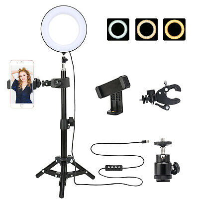 ZOMEI SMD LED Ring Light Dimmable Lighting with Stand/Phone clip for Photography