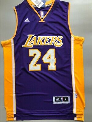 e2c600ec2ff NWT Men's Kobe Bryant #24 Los Angeles Lakers Swingman Jersey Purple Size  S-XXL