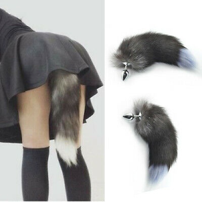 49453e585db Funny Beginner Red Fox Faux Tail Plug Butt Stopper Anal Slicone Adult Toy  Game