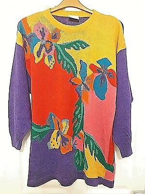 **** Vintage Betty Barclay Multi-Colour Jumper Size Large ****