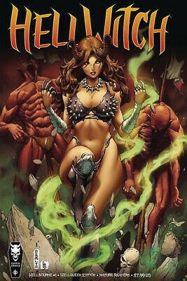 HELLWITCH HELLBOURNE #1, HELLQUEEN COVER, MATURE, New, Coffin Comics (2019)