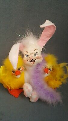 """Annalee Easter Duck /& Egg 4/"""" Egg-Hausted Duck Doll with Egg 2007 Adorable!"""