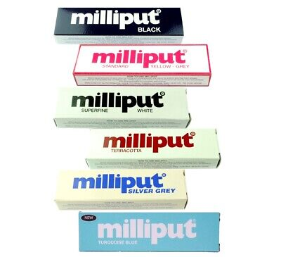 6 Packs of Epoxy Putty Milliput, 1 Pack of Each, Modelling Sculpt Repair. X8175