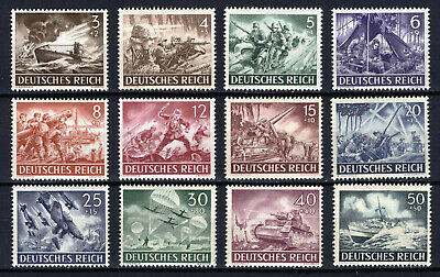 1943 GERMANY Dt. REICH NAZI WAR COMPLETE SET Mi.# 831/842 MINT NEVER HINGED