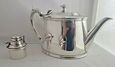 Christofle Teapot Silver plated Antique French Large & Warmer Rare Art Deco