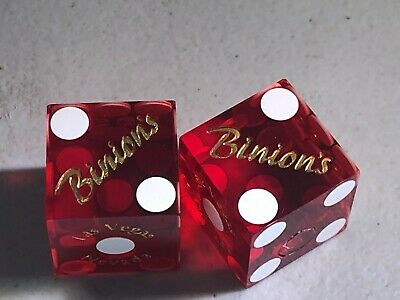 Binion's Hotel & Casino Cancelled Dice Non-Matching 0910/8060
