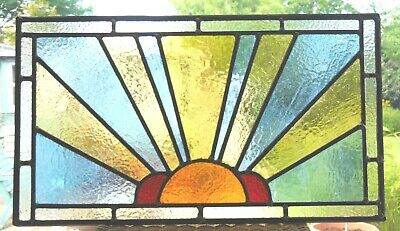 HAND CRAFTED STAINED GLASS SUNBURST PANEL - ALSO MADE TO ORDER - Ref SG374