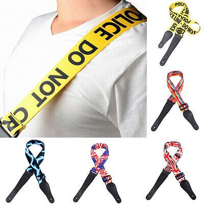 Classic Embroidered Electric Acoustic Bass Guitar Strap Guitar Belt Fashion HO