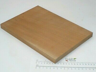 Sapele Mahogany wood board. 200 x 455 x 20mm.  Plank, shelf, hardwood. 3237