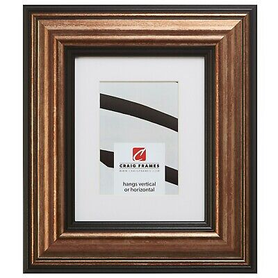 21307201 18x36 Aged Copper & Black Picture Frame Matted to Display a 14x32 Photo