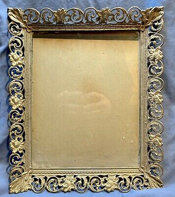 Popular Brand Vintage Victorian Brass Photo Wall Frame Convex Glass 10 X 12.5 Oval #2 Picture Frames