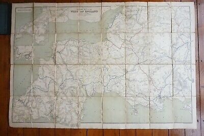 1918 Railway Clearing House Railway Map of West of England Linen Backed