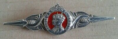 W.H.Haseler Sterling Silver And Enamel King George V1 1937 Coronation Brooch.