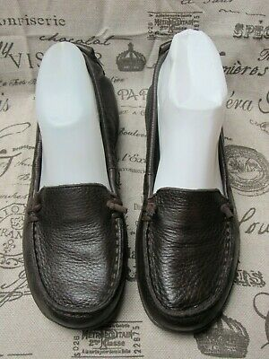 530b908bf9681 Hush Puppies Women's Ceil Slip On Moc Dark Brown Leather Shoes ~ Size 8 / 39