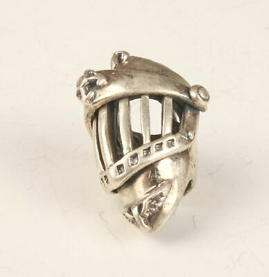 VINTAGE 925 SILVER PENDANT STATUE HANDMADE HELMET CRAFTS COLLECTION GIFT z
