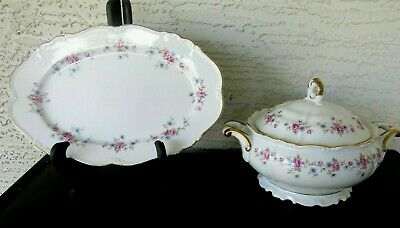 EDELSTEIN BAVARIA GERMANY MARIA-THERESIA Florence CHINA Platter & Soup Tureen
