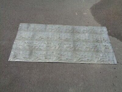 Antique 1900Ish Large 5 Foot X 2 Foot Tin Ceiling Tile Sheets Reclaimed/Crafts