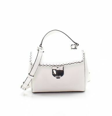 1732a7c90b15 Michael Kors NEW White Scalloped Leather Ava Extra Small Crossbody Bag $228  #049