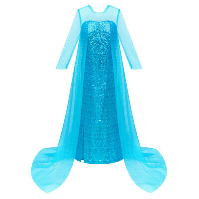 Sunny Fashion Girls Dress Princess Dress Elsa Costumes Birthday Party Size 4-10
