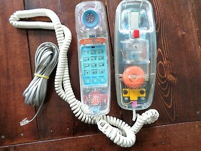 Unisonic 6900 Retro Clear See through Colorful Telephone Corded Landline